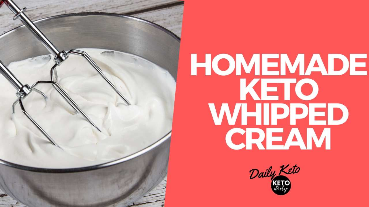 homemade keto whipped cream