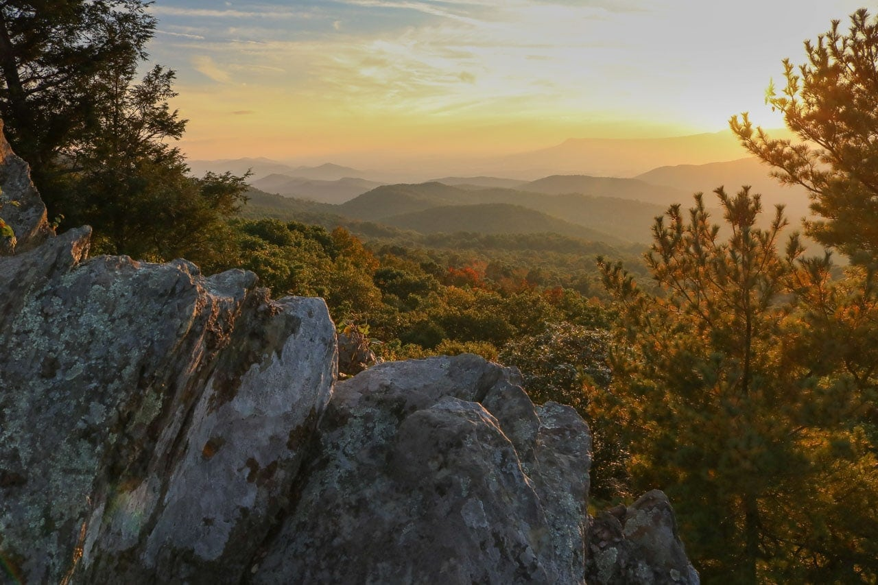 Best Places To Watch The Sunset In Shenandoah National Park