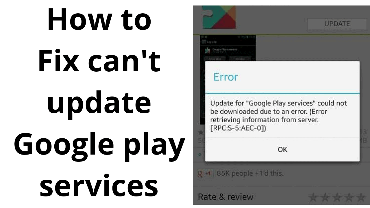 Fix Can't update Google Play Services problem 2019