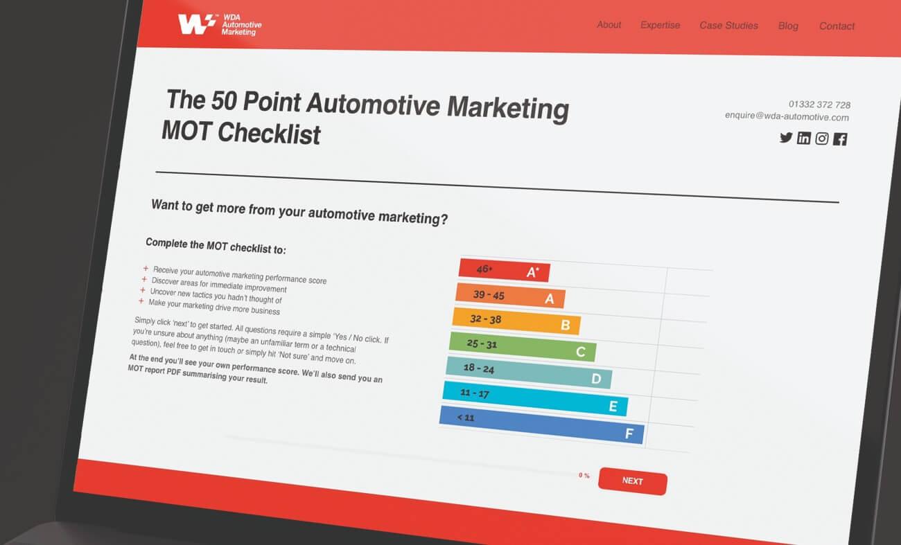 automotive marketing checklist