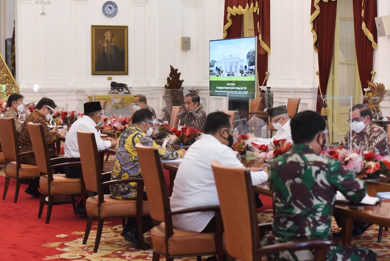 Presiden Jokowi pimpin Ratas