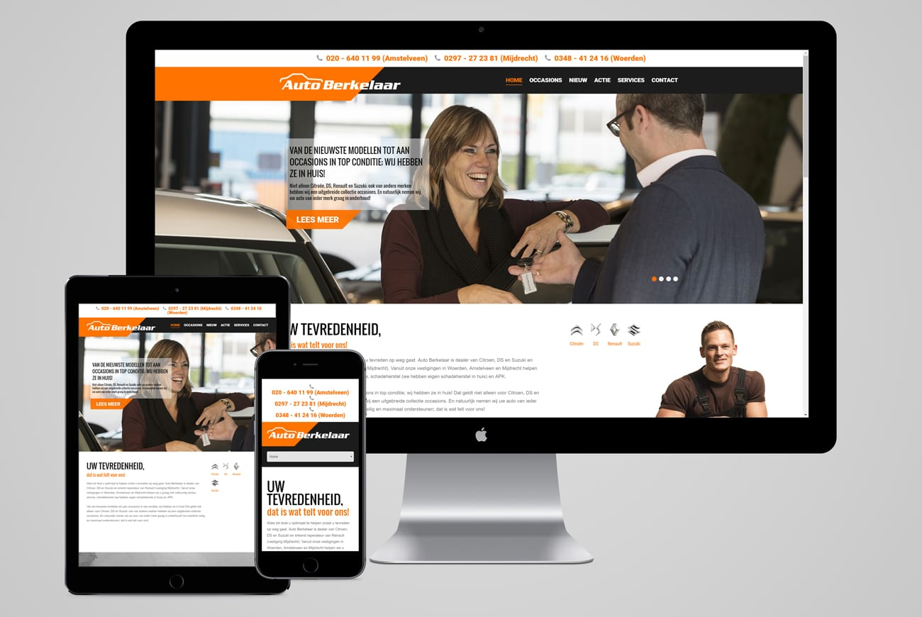 Auto Berkelaar website mobile tablet desktop