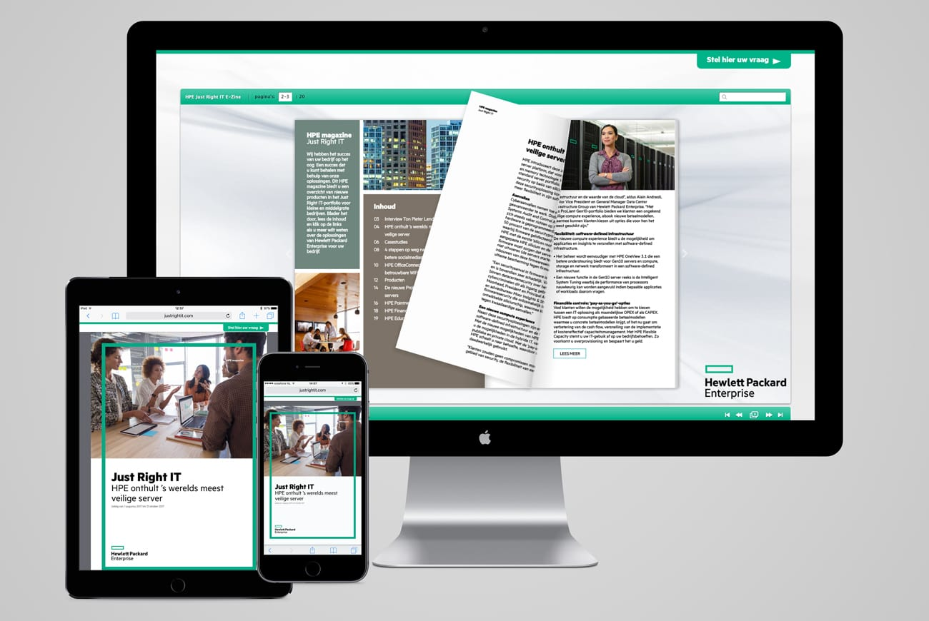 HPE Just Right IT responsive design website