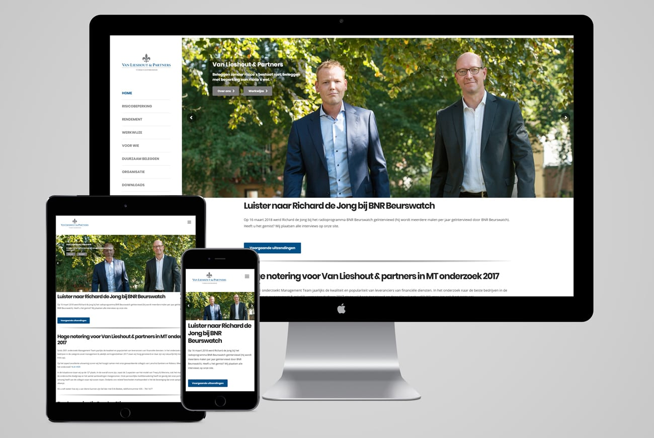 Van Lieshout & Partners responsive design website