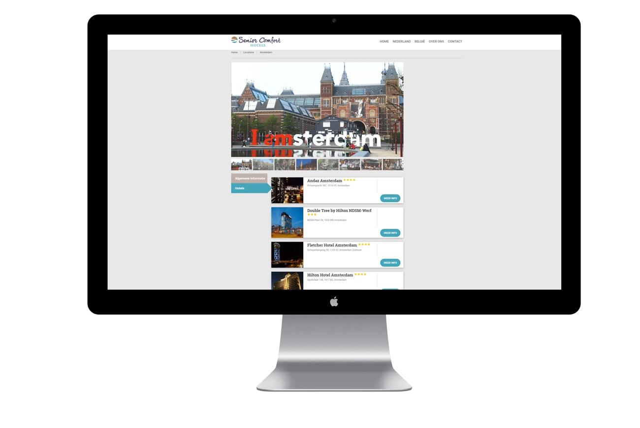 Senior Comfort Hotels website overzicht