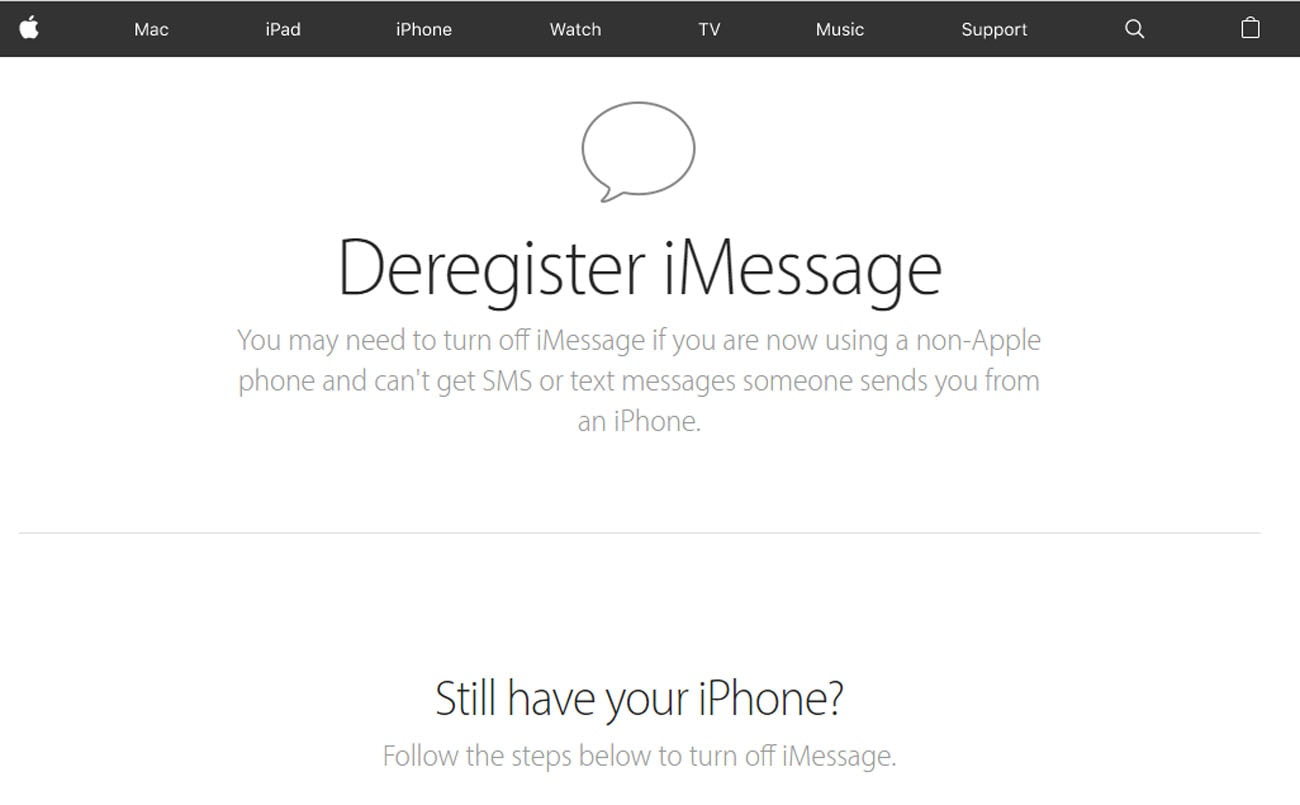 galaxy s20 can't receive text from iphone deregister