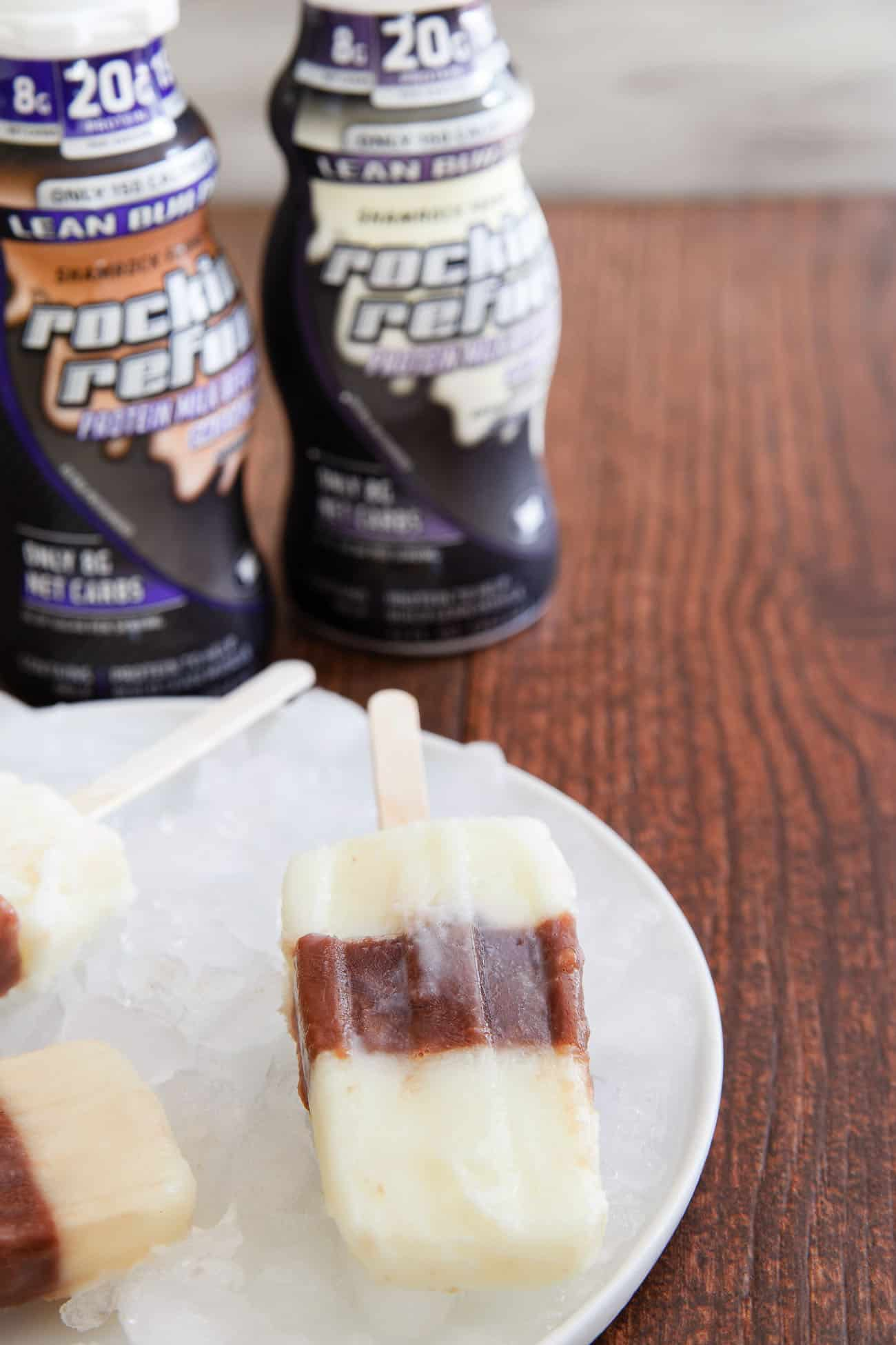 If you're craving an icy treat, try making ice pops with both vanilla and chocolate varieties of Rockin' Refuel!