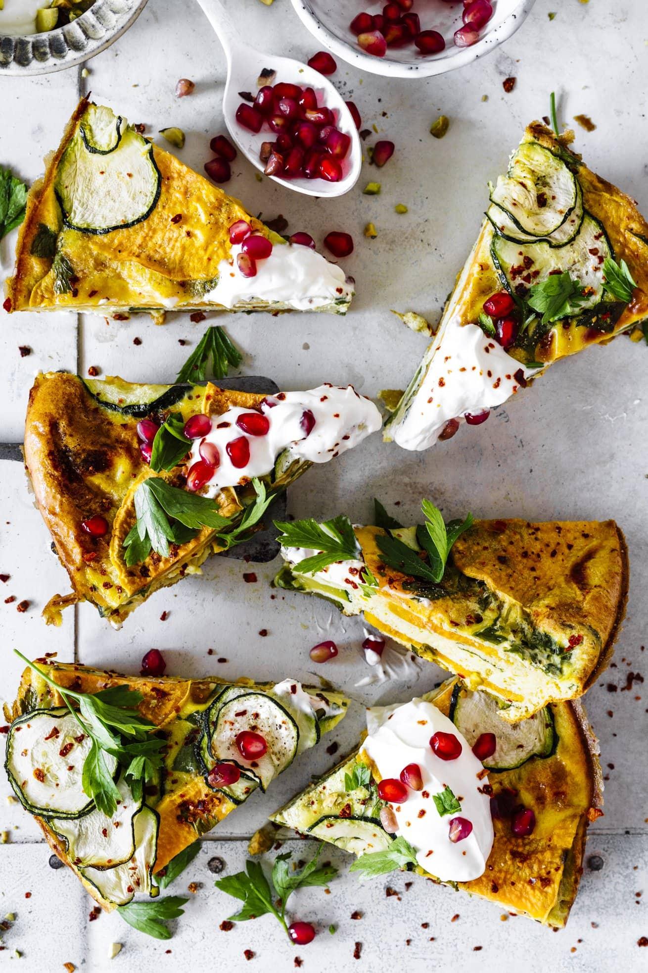 Tolles Rezept für eine leckere Zucchini Frittata aus dem Ofen
