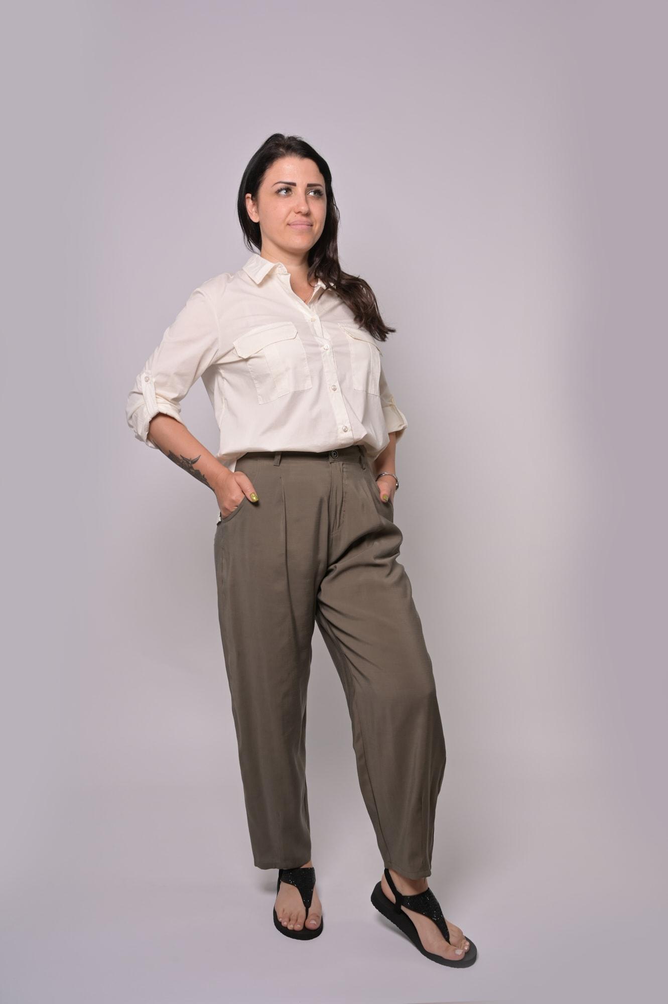 LE STREGHE Leichte Stoffhose