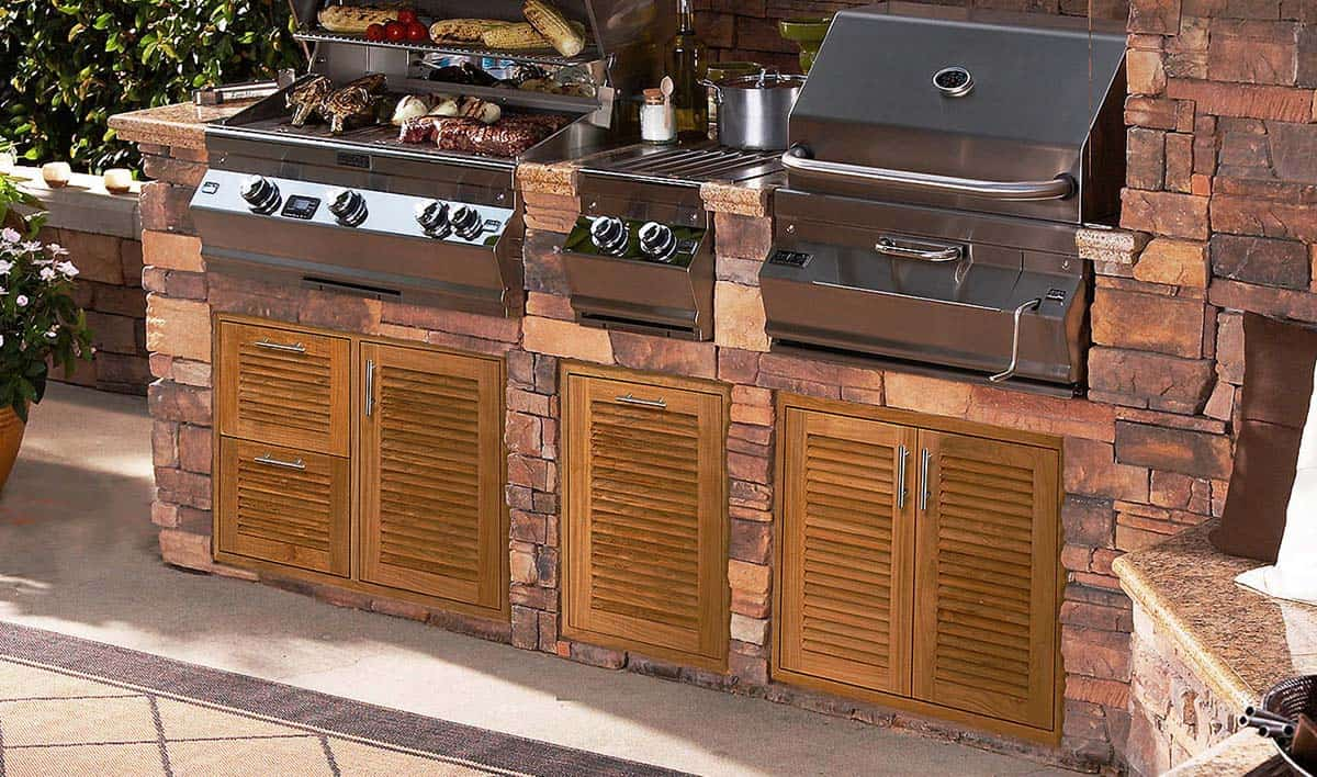 bbq Island doors and drawers
