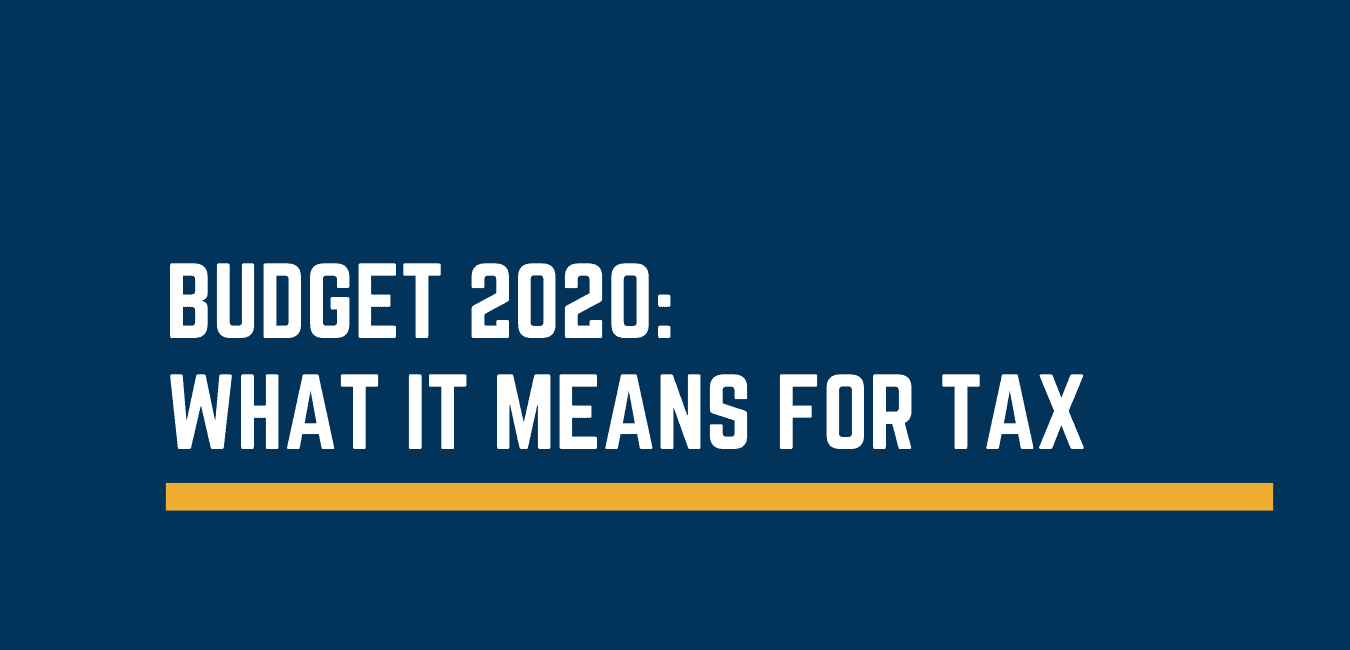 Budget 2020: what it means for tax
