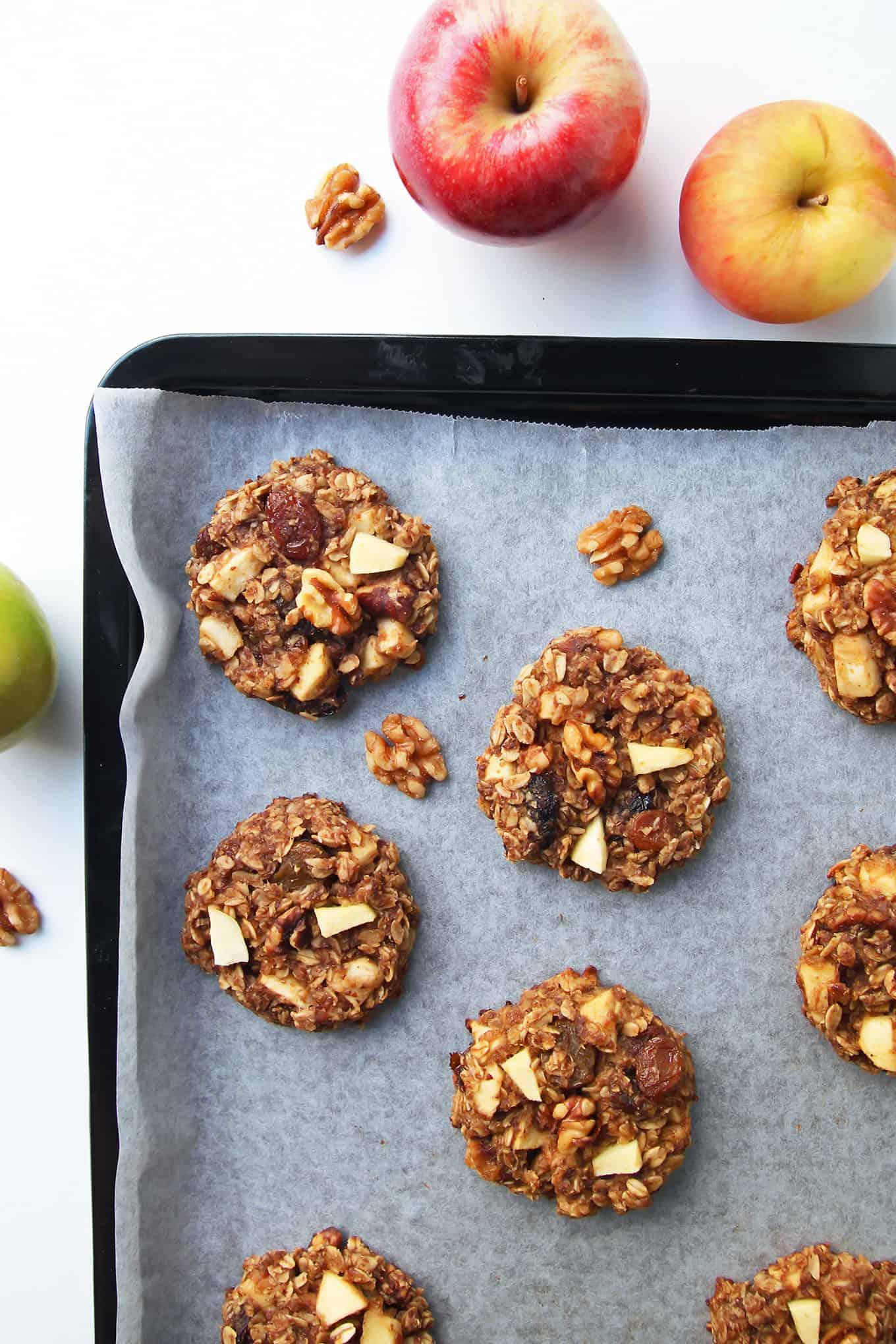 Apple Breakfast Cookies on Tray