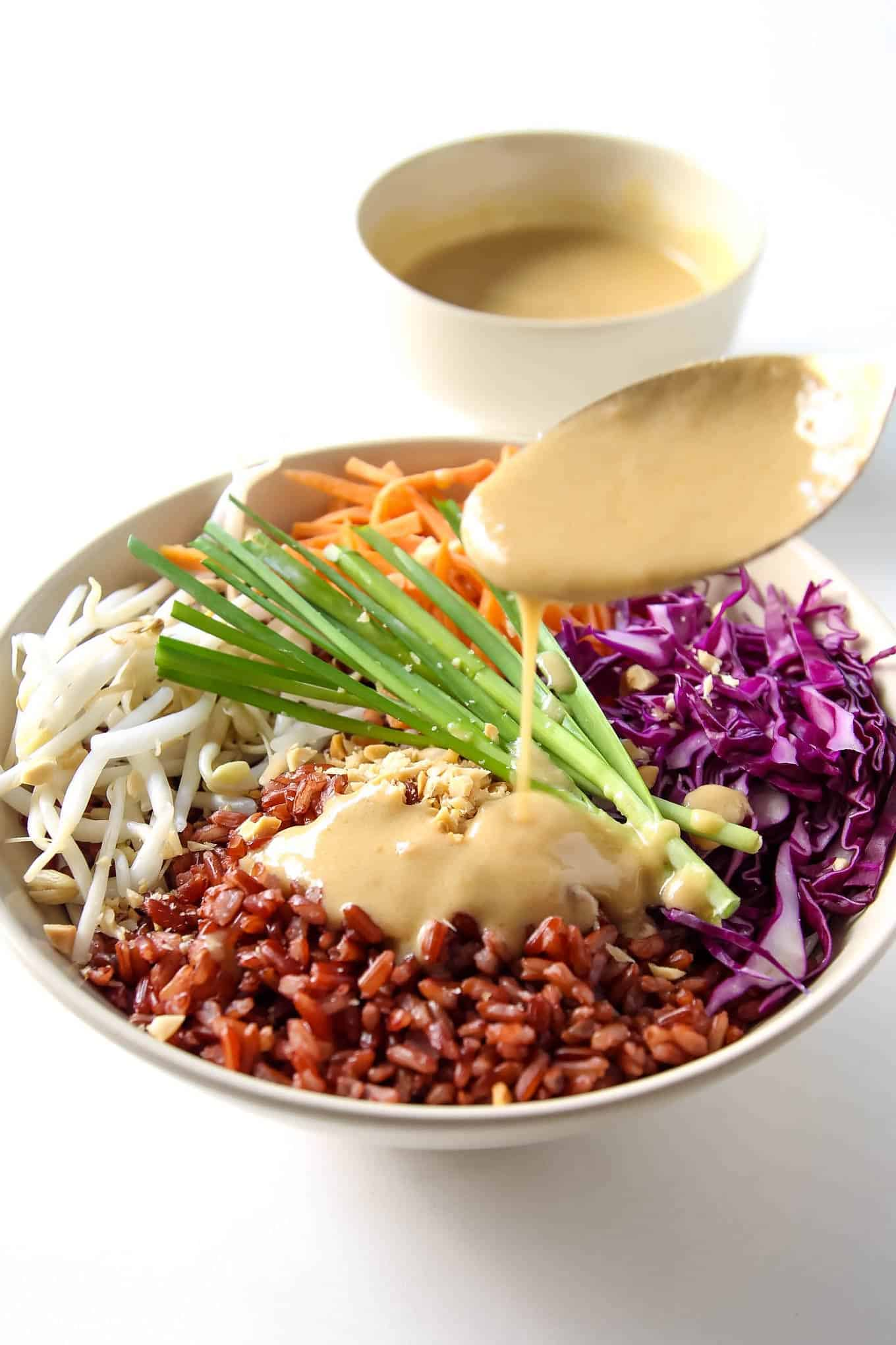 Buddha Bowl with Peanut Sauce