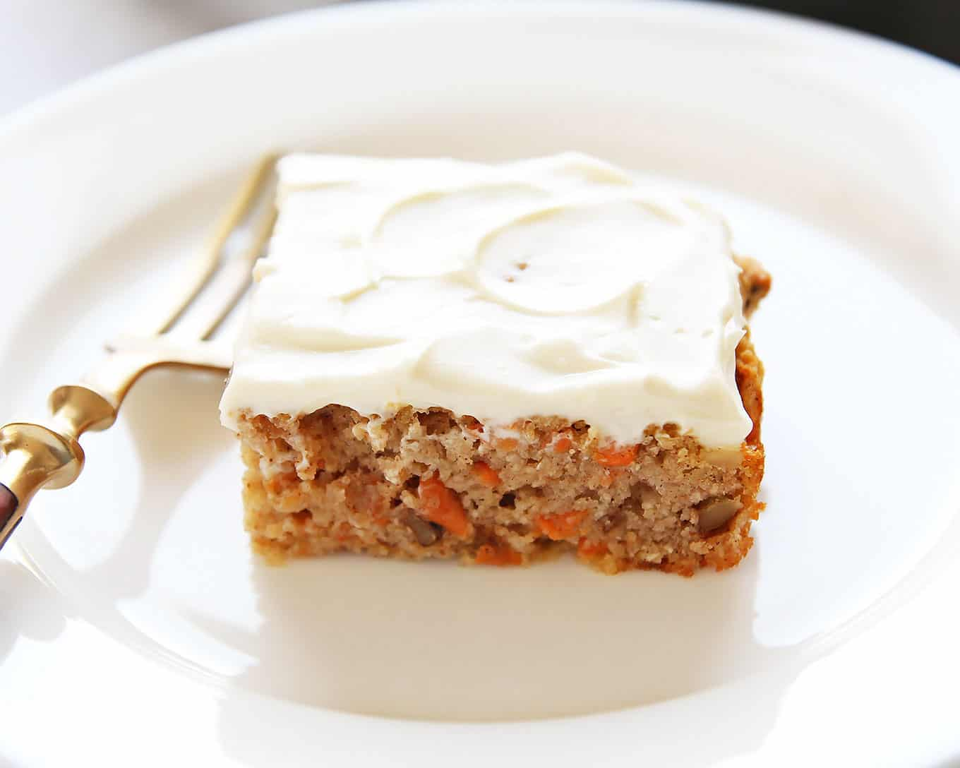 Frosted Healthy Carrot Cake Slice