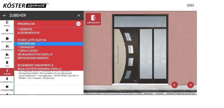 Köster Advance Haustür nach Maß Türkonfigurator individuelle Tür