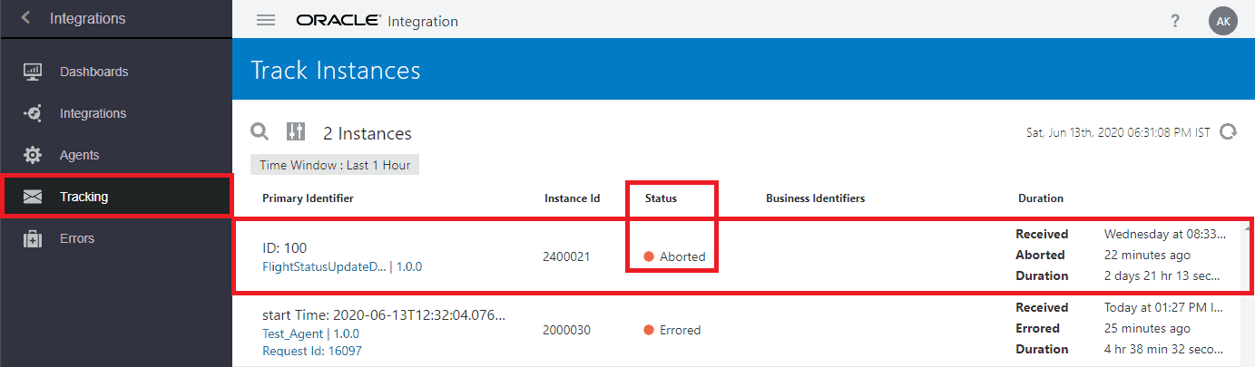 Oracle Integration Cloud (OIC) Managing & Monitoring Integration/Errors