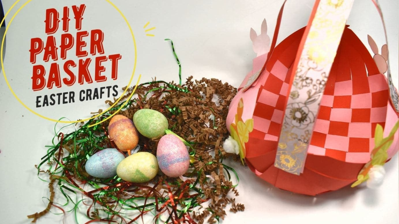 How To Make DIY Paper Basket - Easter Craft For Kids