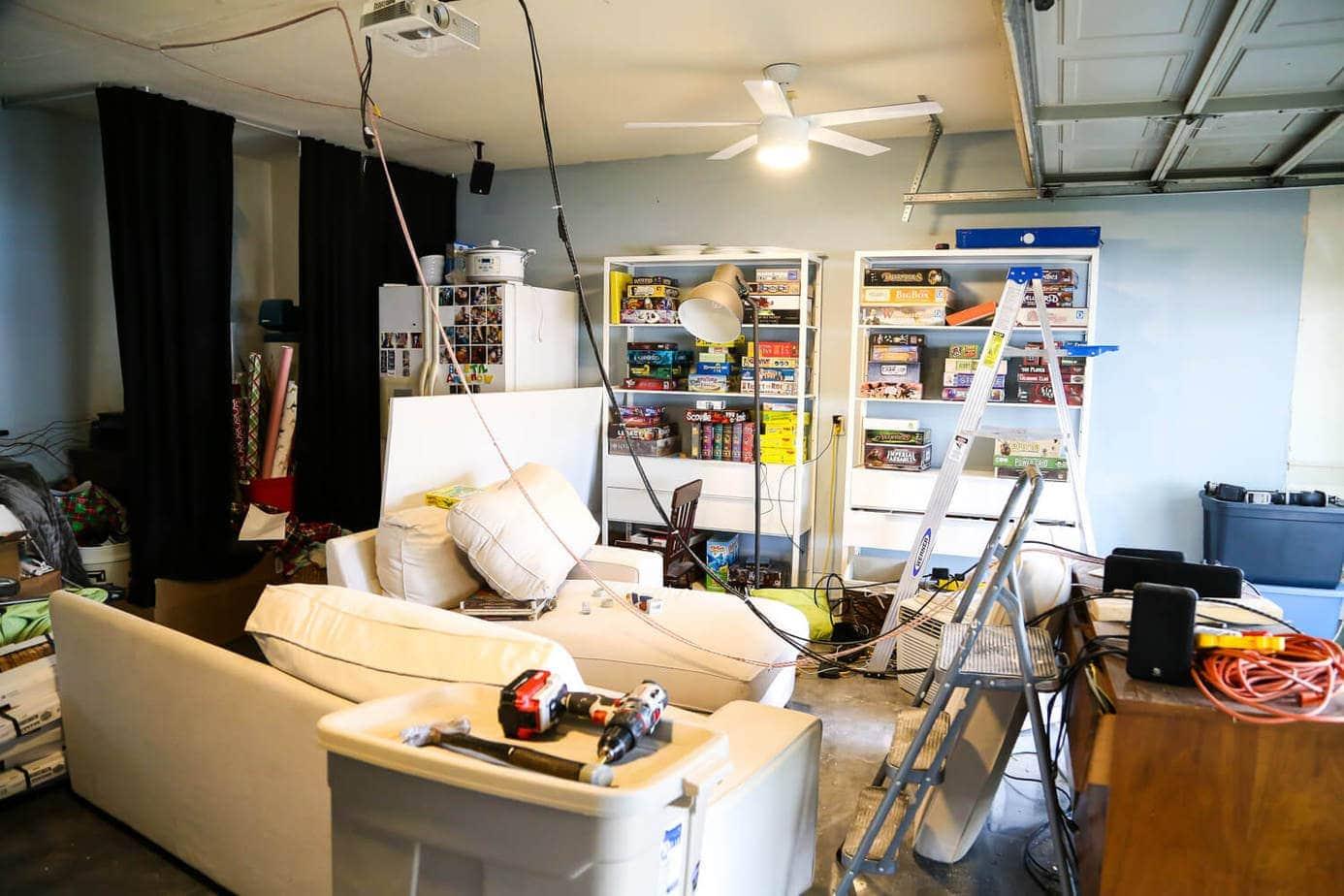 media room renovation