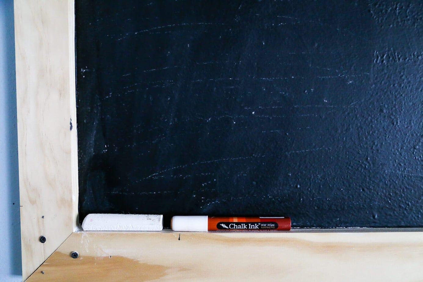 Blackboard for garage