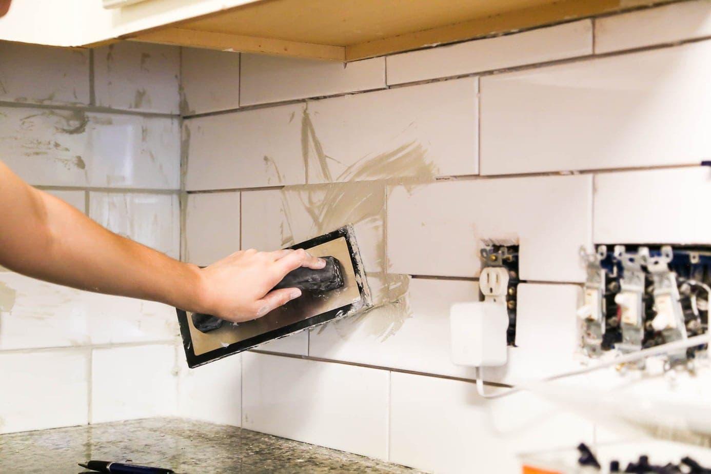 Install kitchen backsplash
