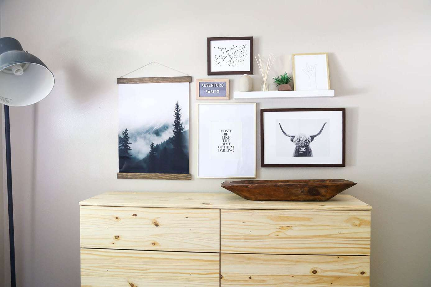 Nursery Gallery Wall (Plus a DIY Poster Frame!) | Love & Renovations
