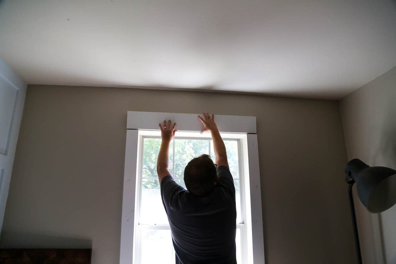 installing DIY window trim
