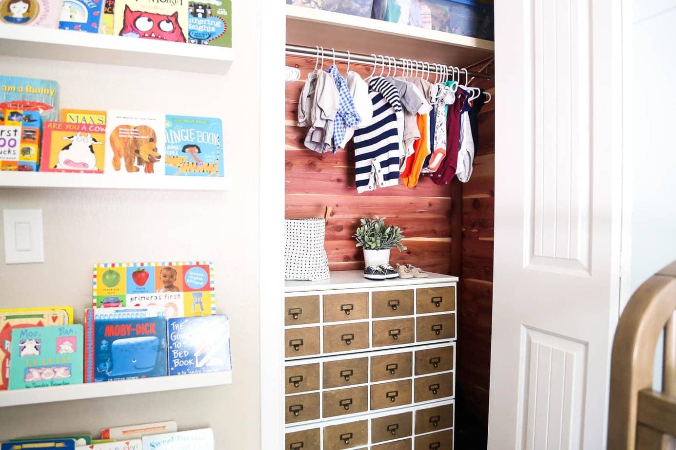 nursery closet diy
