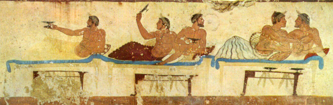 Griechisches Symposion, Fresko von 475 v. Chr.