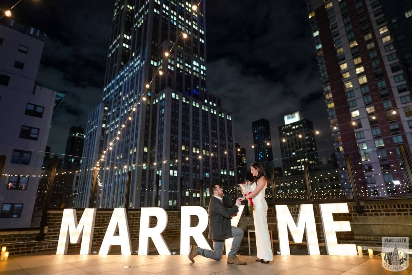 Photo 3 Gigantic Marry Me Letters Rooftop Proposal | VladLeto