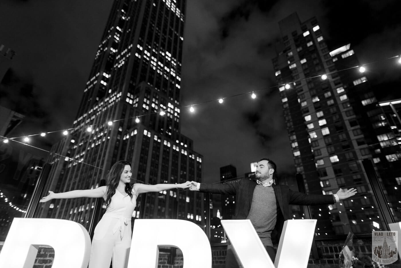 Photo 11 Gigantic Marry Me Letters Rooftop Proposal | VladLeto
