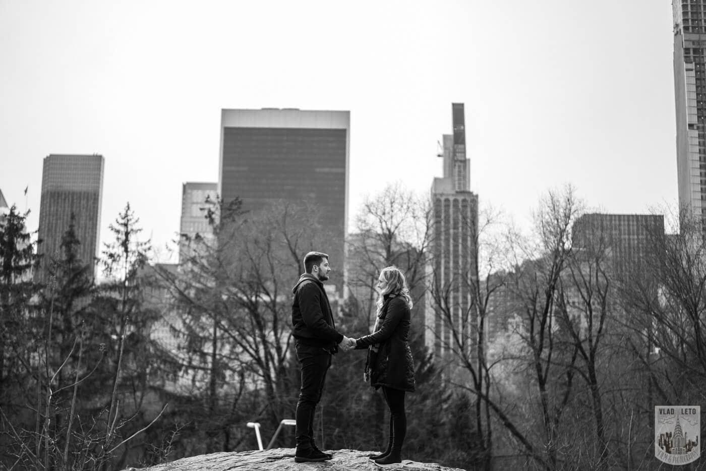 Photo 9 Bow bridge wedding proposal in Central Park | VladLeto