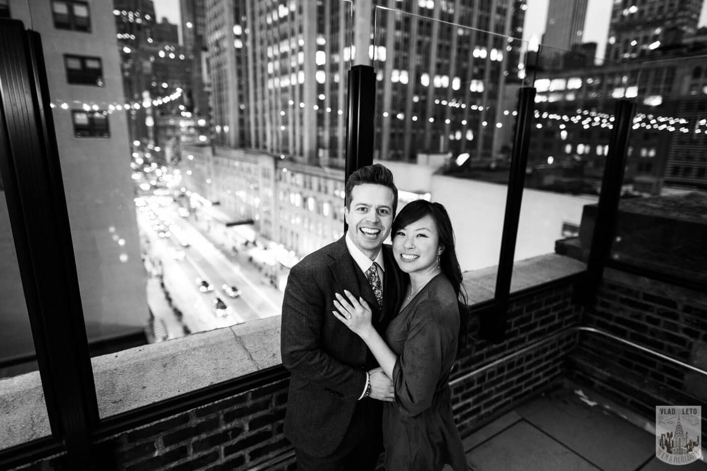 Photo 11 Wedding proposal on a private rooftop with Empire State building view. | VladLeto