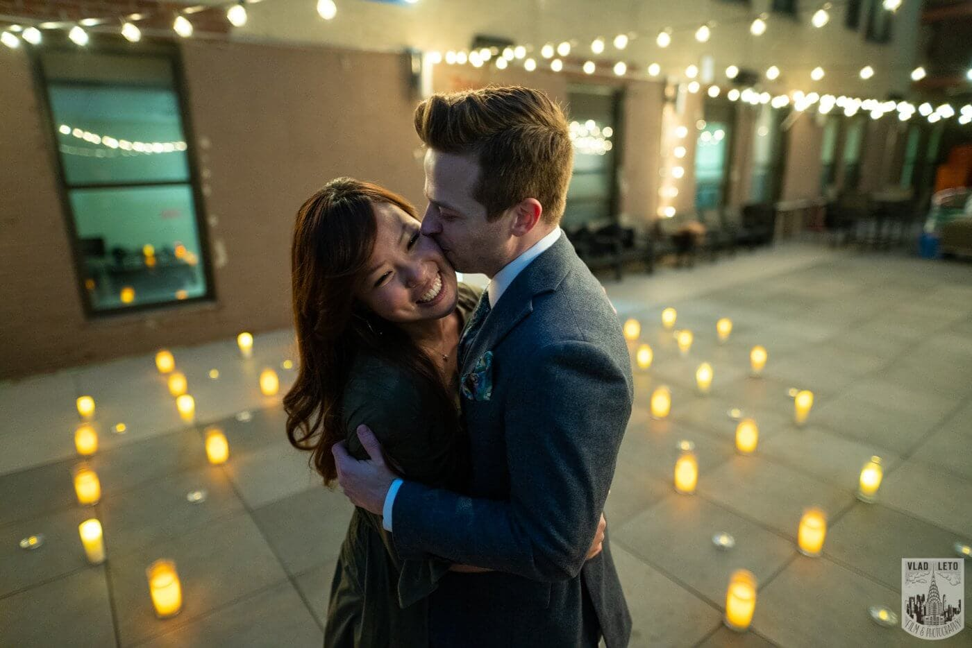 Photo 7 Wedding proposal on a private rooftop with Empire State building view. | VladLeto