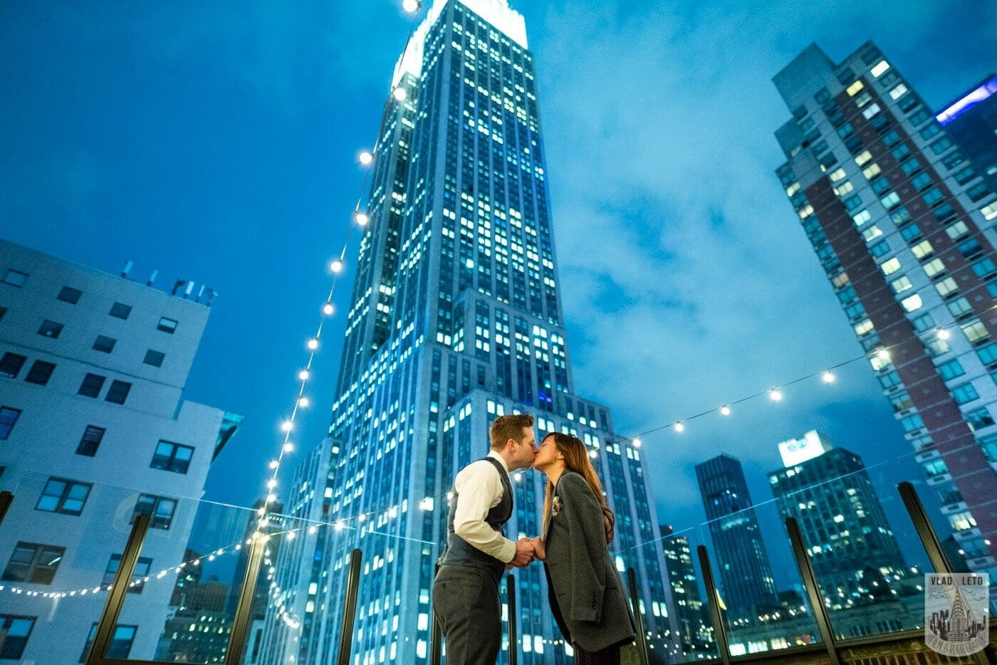 Photo 5 Wedding proposal on a private rooftop with Empire State building view. | VladLeto
