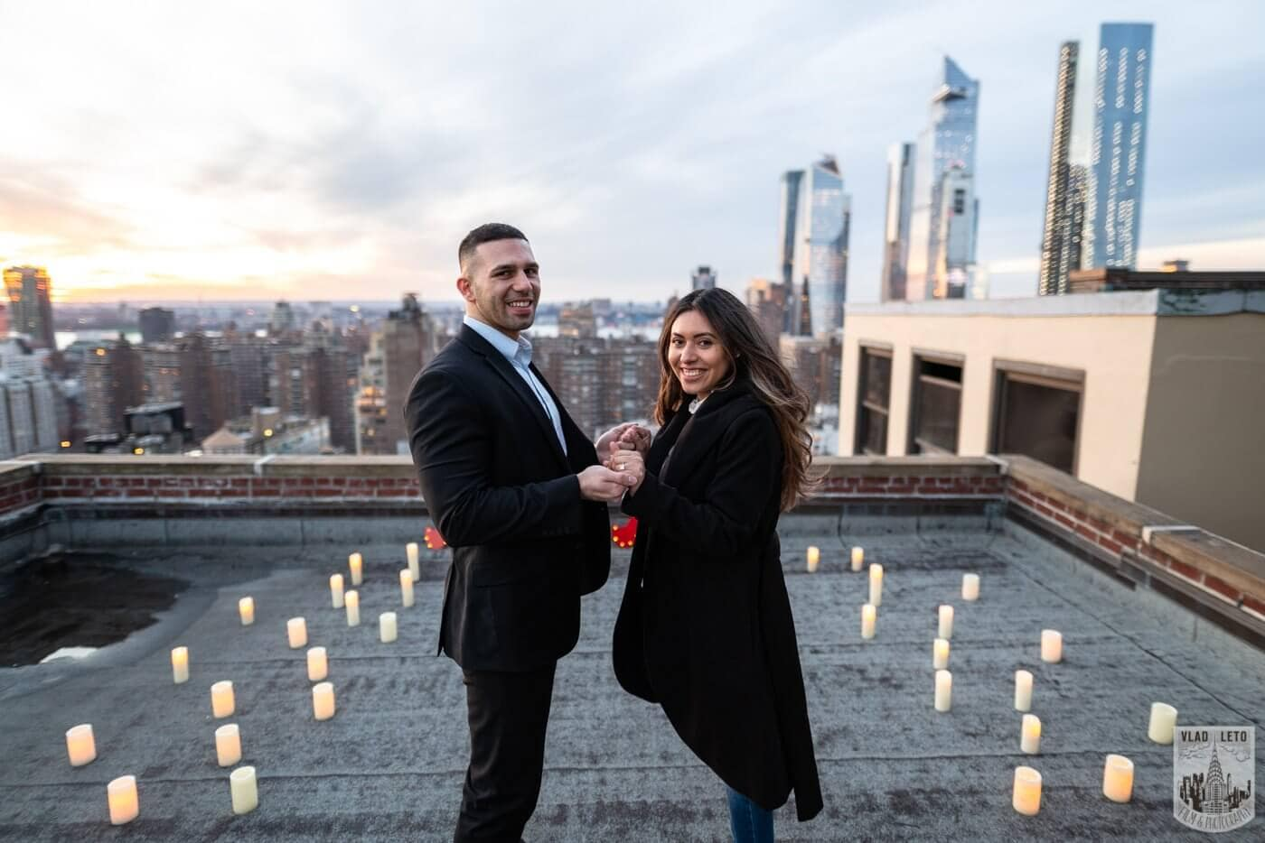 Photo 5 Sunset Proposal on private rooftop New York | VladLeto