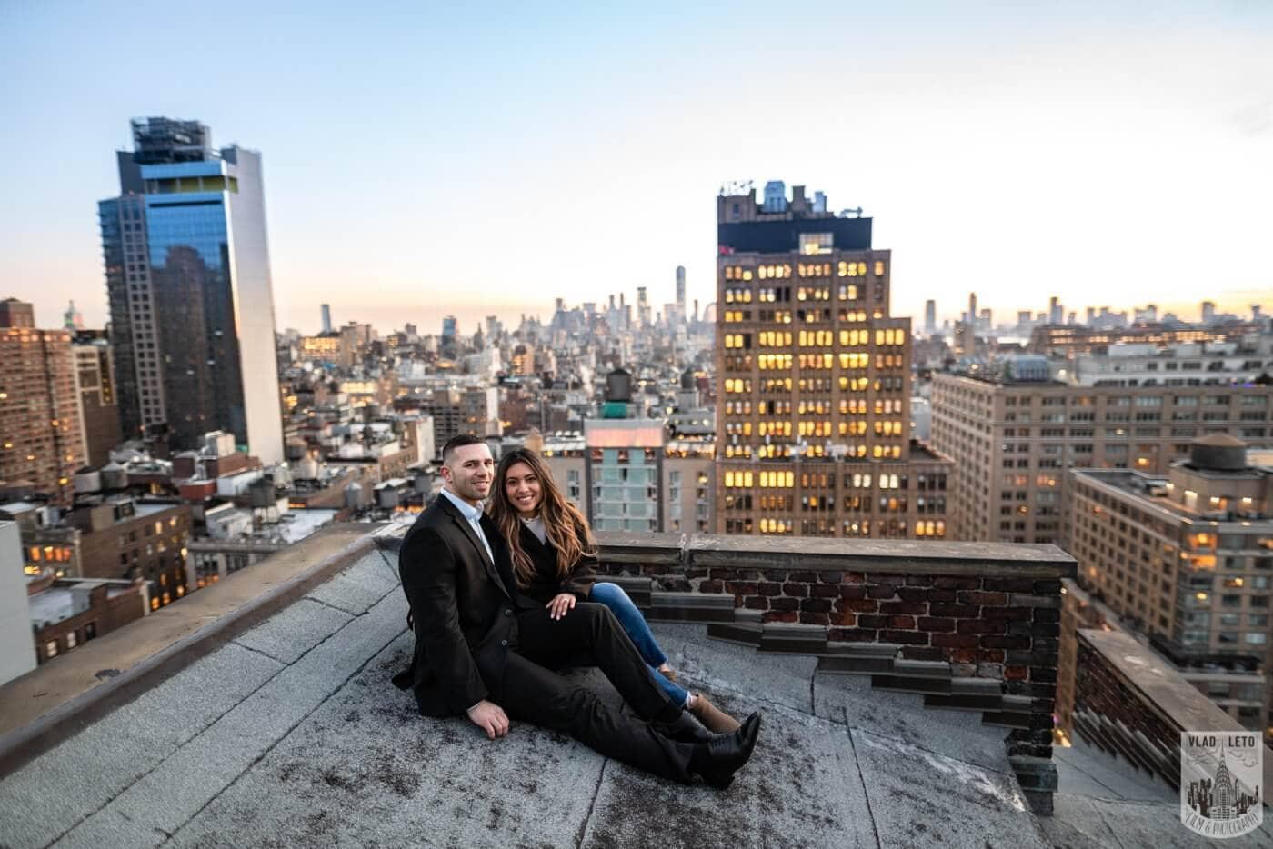 Photo 21 Sunset Proposal on private rooftop New York | VladLeto