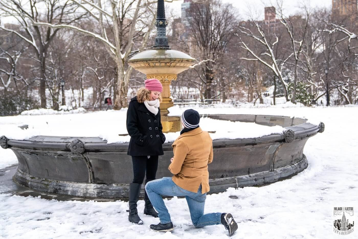 Photo Same sex couple proposal at Cherry Hill in Central Park | VladLeto