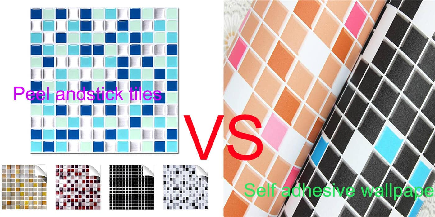 peel and stick tiles or self-adhesive wallpapers for the home wall mosaic art