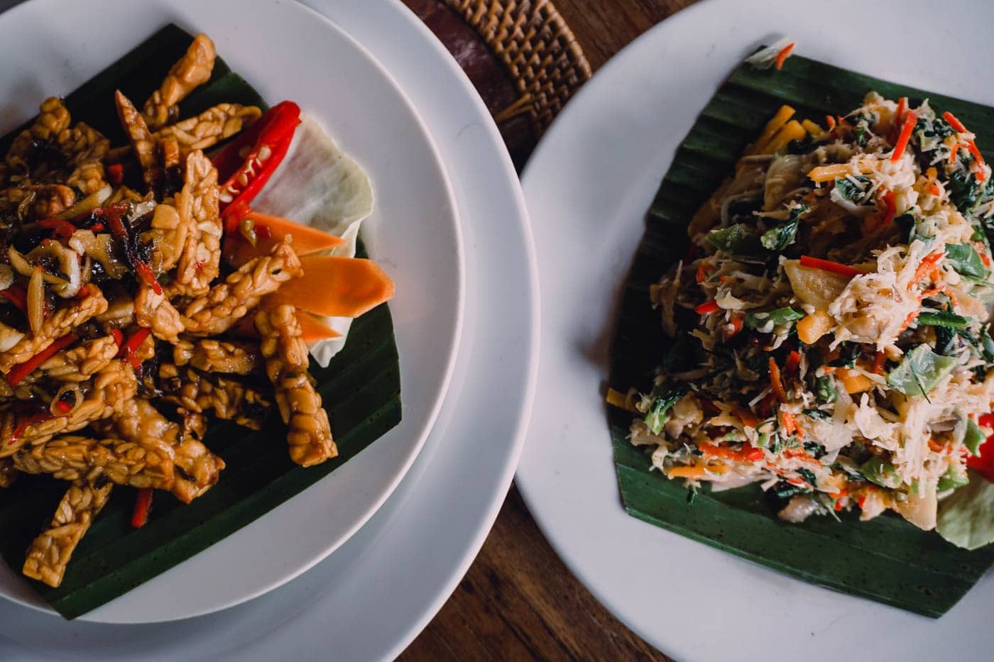Final Balinese dishes from the cooking class