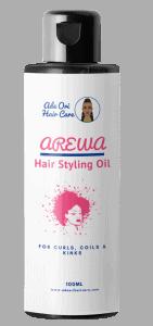 Arewa Hair Styling Oil 3D Mockup