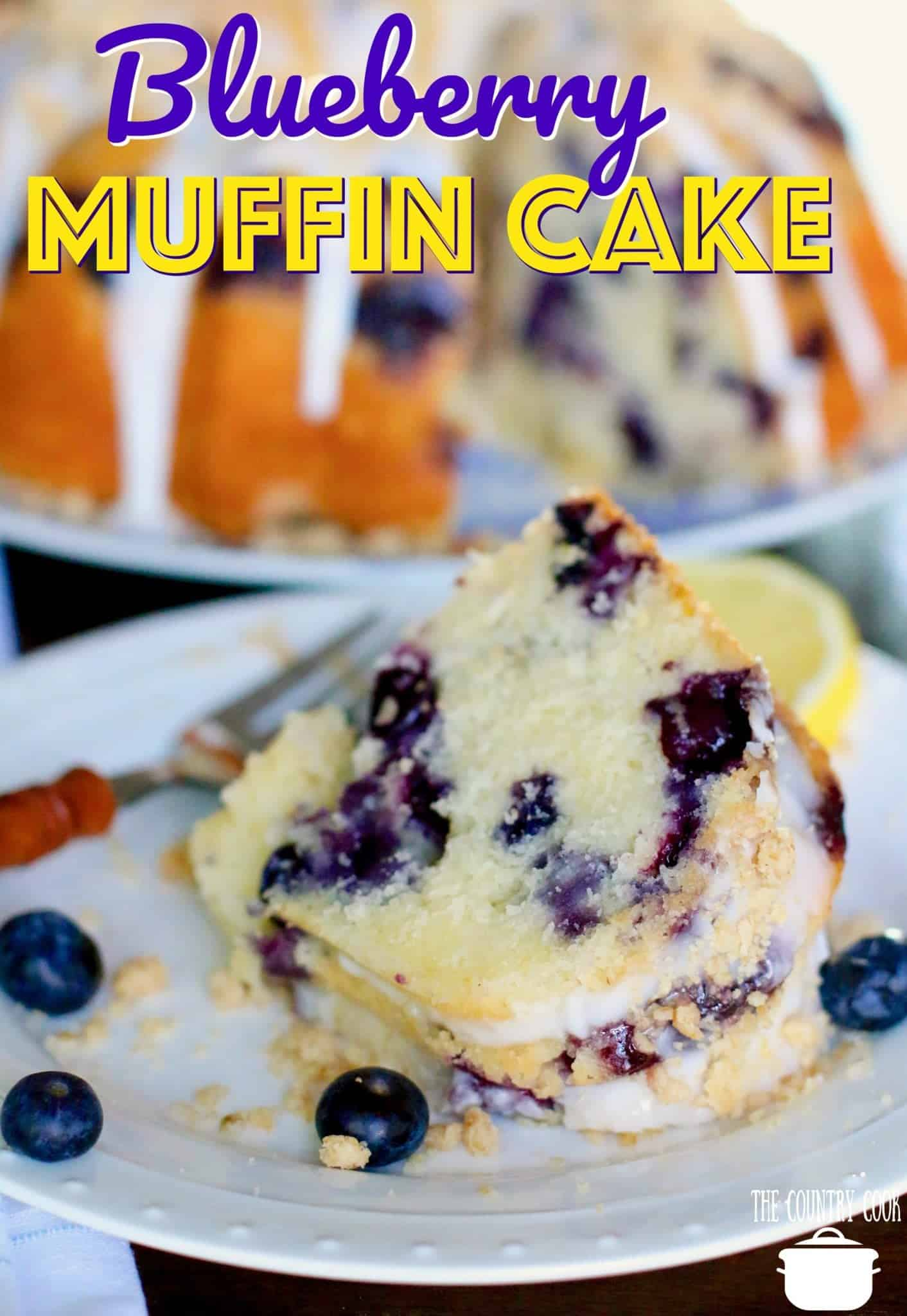 Blueberry Muffin Cake recipe from The Country Cook
