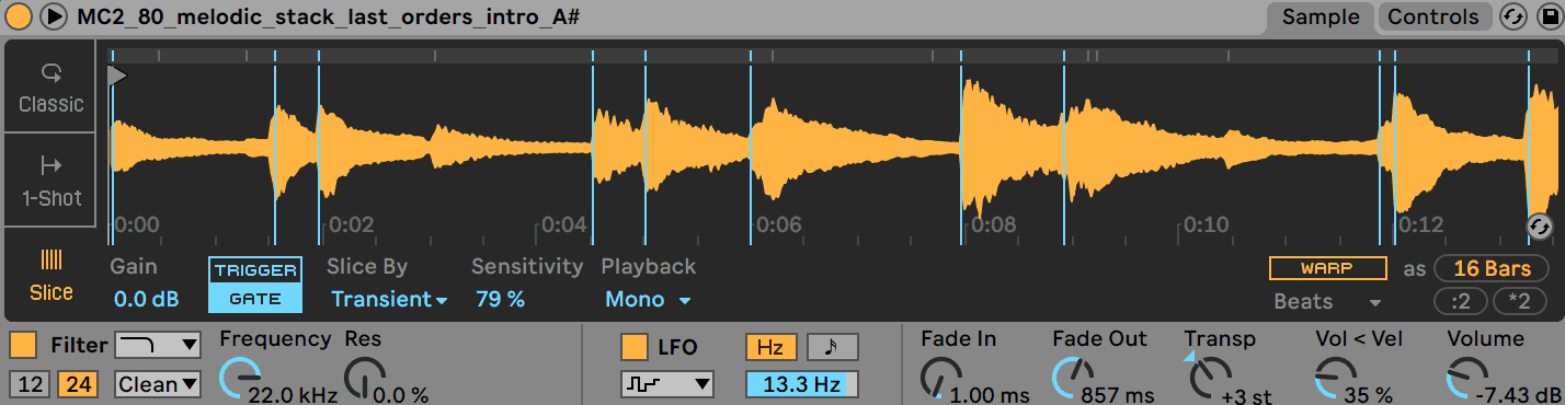 Chopping a Sample Ableton Live Simpler Slice Mode