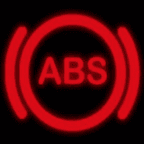 The red ABS warning light is shown.