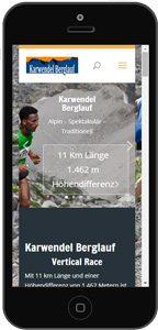 Homepage Mobile Website
