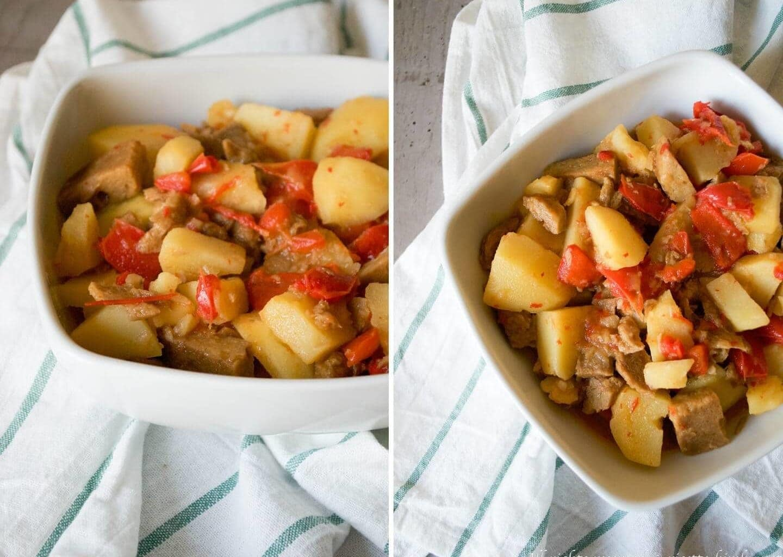 Seitan con peperoni e patate Bimby