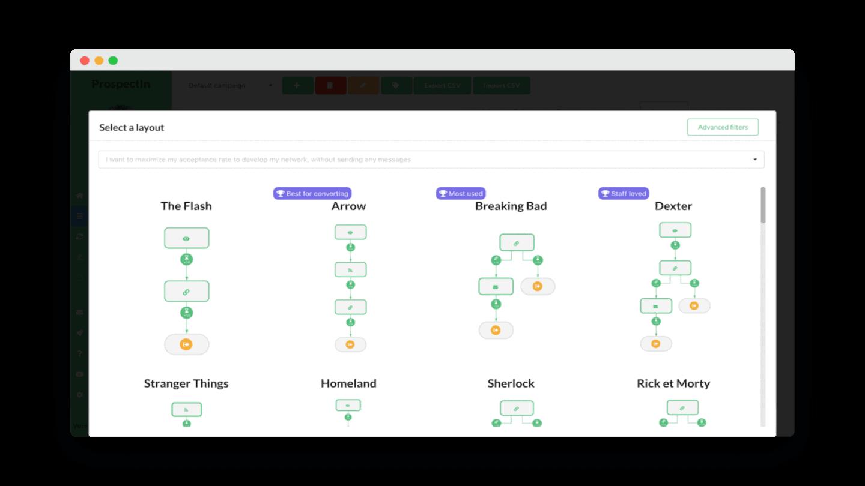outils leads linkedin linkedin prospectin layout
