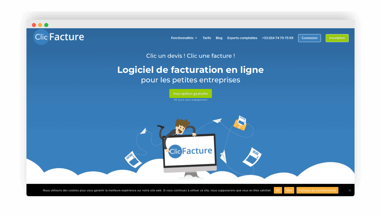 clicfacture homepage