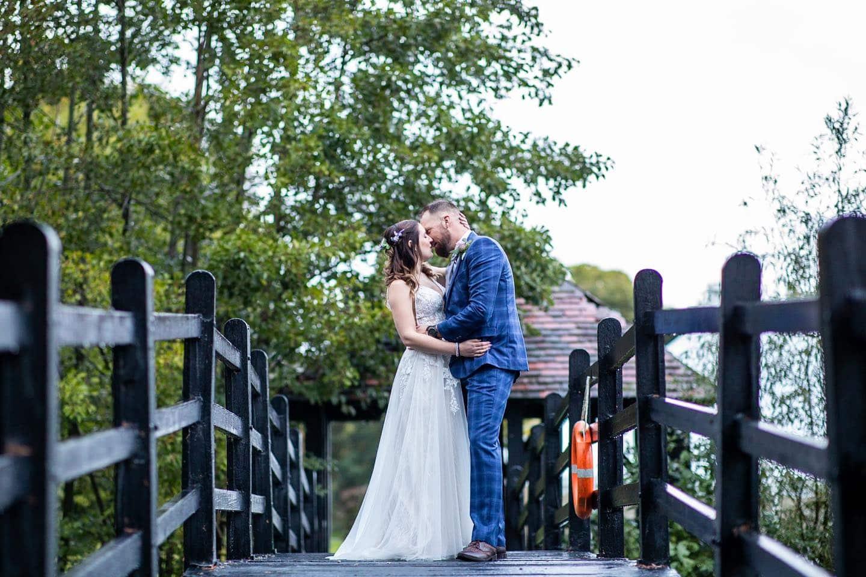 Wedding Bride and Groom Prested Hall