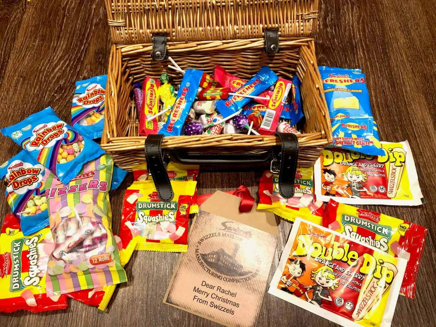Personalised Retro Hamper, sweets, from your childhood.