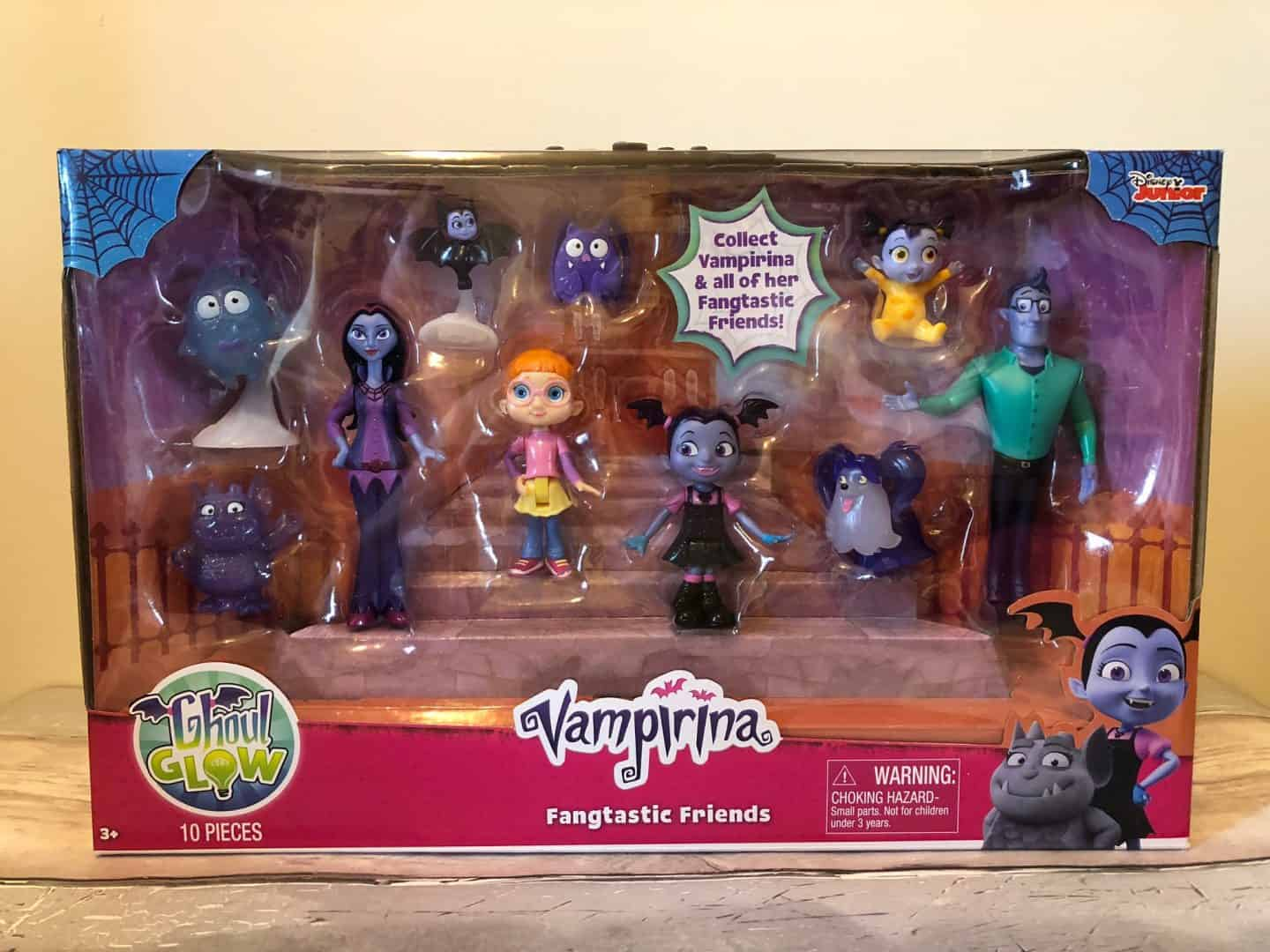 Vampirina Fangtastic Friends Set – EXISTING ITEM - £29.99 – The set comes with 10 characters from the show. Each figure features ghoulishly fun glitter accents or poseable arms, perfect for encouraging imaginative play. Kids will love bringing the world of Disney Junior's Vampirina to life!